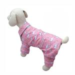 View Image 1 of Fluffy Clouds and Stars Dog Pajamas by Klippo - Pink