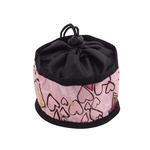 View Image 1 of Foldable Dog Travel Bowl by Doggles - Pink Hearts