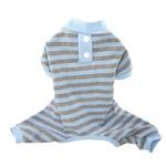 View Image 1 of FouFou Classic Striped Dog Pajamas - Blue