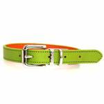 View Image 2 of FouFou Reversible Dog Collar - Green/Orange