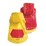 View Image 1 of FouFou Reversible Dog Raincoat - Yellow/Red