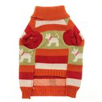View Image 2 of Fritzy's Fair Isle Dog Sweater - Orange Spice