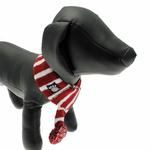 View Image 3 of Frosty's Snowflake Dog Scarf - Brick Red