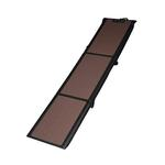Full Length Tri-Fold Pet Ramp - Chocolate/Black