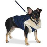 View Image 2 of Furry Winter Harness Coat by Dogo - Denim