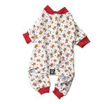 Gingerbread Dog Pajamas - Red Trim