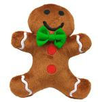 View Image 1 of Gingerbread Man Plush Dog Toy by Hip Doggie
