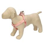 View Image 1 of Gingham Ribbon Dog Harness - Pink