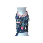 View Image 1 of Girlie Girl Denim Dog Vest w/ Leash