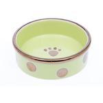 View Image 1 of Glitzy Dots Dog Bowl - Kiwi