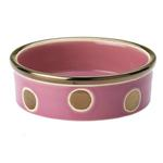 View Image 1 of Glitzy Dots Dog Bowl - Raspberry