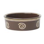 View Image 1 of Glitzy Swirls Dog Bowl - Espresso Brown