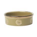 View Image 1 of Glitzy Swirls Dog Bowl - Moss Green