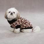 View Image 4 of Gold Print Leopard Dog Sweater