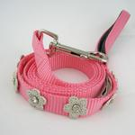 View Image 1 of Gracie Silver on Pink Daisy Dog Lead