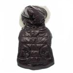 View Image 2 of Gray Dog Parka with Scarf
