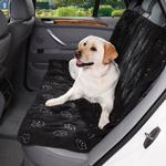 Cruising Companion Pawprint Seat Cover - Black