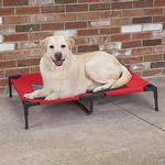 View Image 2 of Guardian Gear Pet Cot with Mesh Panels - Crimson