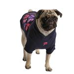 View Image 3 of Hallmark Hooded Dog Shirt by Puppia - Navy