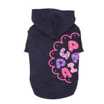 View Image 1 of Hallmark Hooded Dog Shirt by Puppia - Navy
