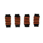 Striped Halloween Dog Leg Warmers - Orange and Black