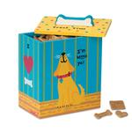 View Image 1 of Hand Painted Dog Treat Box - Yellow