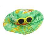 View Image 1 of Hawaiian Dog Hat - Green