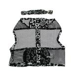View Image 1 of Hawaiian Netted Dog Harness w/ Leash - Black
