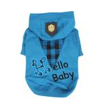 View Image 1 of Hello Baby Dog Hoodie by Puppia - Blue