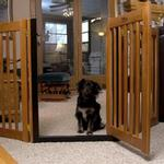 View Image 1 of Highlander Free Standing Walk-Through Dog Gate - Artisan Bronze