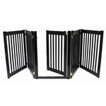 View Image 1 of Highlander Free Standing Walk-Through Dog Gate - Black