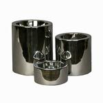 View Image 1 of High-Rise Nickel-Plated Dog Feeder Bowl