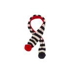 View Image 1 of Striped Dog Scarf by Fab Dog - Navy/Red