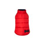 View Image 2 of Reversible Bone Puffer Dog Jacket by Fab Dog - Navy/Red