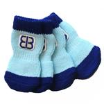 Home Comfort Traction Control Dog Socks - Blue
