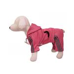 View Image 2 of Hooded Dog Jumpsuit with Reflective Stripes by Klippo - Pink