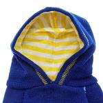 View Image 2 of Hooded Polka Dot Dog Sweater - Blue