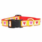 View Image 2 of Hot Hearts Dog Collar by Up Country