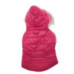 View Image 2 of Hot Pink Dog Parka with Scarf