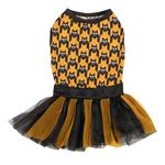 View Image 3 of Houndstooth Bat Dog Tank and Tutu Set