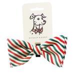 Huxley & Kent Dog Bow Tie Collar Attachment - Mint Stripe