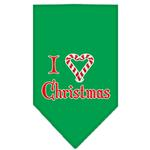 View Image 1 of I Heart Christmas Dog Bandana - Green