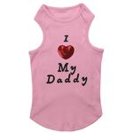 View Image 3 of I Love My Daddy Dog Tank Top - Pink