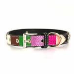 View Image 2 of Ice Cream Dog Collar - Pink Neapolitan Bone