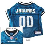 View Image 1 of Jacksonville Jaguars Officially Licensed Dog Jersey - Teal