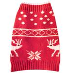 View Image 1 of Jaquard Moose Holiday Dog Sweater