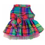 View Image 1 of Jewel Tone Plaid Dog Dress