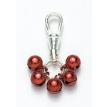 View Image 1 of Jingle Bell Tiny Red Dog Collar Charms or Cat Collar Charm