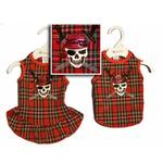 View Image 1 of Jolly Roger Dog Tank - Red Plaid