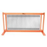 View Image 1 of Kensington Free Standing Wood/Wire Slide Dog Gate - Cherry